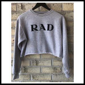BRANDY MELVILLE RAD Crop Sweatshirt